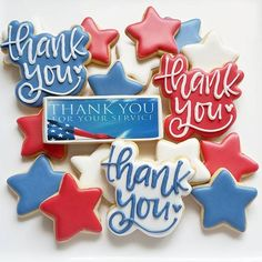 #thankyou #cookies for  #operationcookietakeover #OCT2017 #decoratedcookies #customcookies #berwyn Thank You Cookies, Custom Cookies, Decorated Cookies, Royal Icing, Cookie Bars, Cookie Decorating, Sugar Cookies, Rage, Teacher Gifts