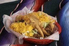 Tasty Tacos menu of food. Home of the Flour Taco. Food made fresh daily. Gourmet Recipes, Mexican Food Recipes, Ethnic Recipes, Mexican Dishes, Tasty Tacos Recipe, Tacos Menu, Good Food, Yummy Food, Yummy Treats