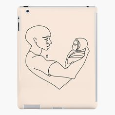 'Father and son.' iPad Case/Skin by Pinkantart Lip Designs, Father And Son, Ipad Case, Tee Shirt, Duvet, Sons, Fitness Models, My Arts