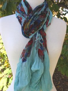 Blue Pacific - Turquoise Scarf!