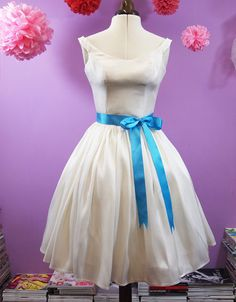 Fifties Short Wedding Dress  Meg  Made to Order by makemeadress, £545.00
