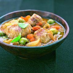 Sauté de veau à la sauge et aux olives