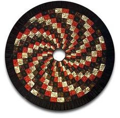 Spiral #Quilted #Christmas Tree Skirt from Sulky