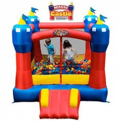 Blast Zone Magic Castle Bounce House in Inflatable Bouncers & Bouncy Castles. Castle Bounce House, Bouncy House, Bouncy Castle, Bouncy Ball, Inflatable Bounce House, Inflatable Slide, Inflatable Bouncers, Paw Patrol, Timmy Time
