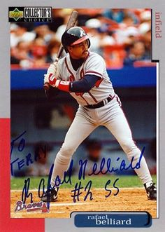 5fb97785b19 Atlanta Braves Rafael Belliard Autographed Hand Signed Photo - comes with  certificate of authenticity.Belliard is a retired Major League Baseball s.