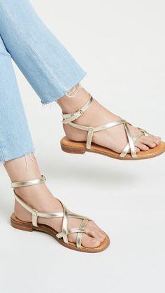 sandals, flat sandals