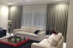 Curtain Hall Folds Male  #curtain #folds Curtain Room, Curtains, Tiny House, Sweet Home, Samara, Nova, Home Decor, Beige Room, Tv Wall Decor