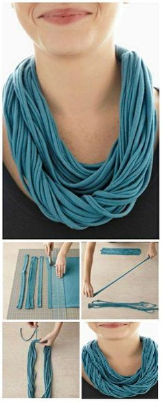 DIY - No Sew T-Shirt Necklace