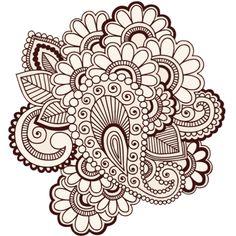 Illustration of Hand-Drawn Intricate Abstract Flowers Mehndi Henna Tattoo Paisley Doodle vector art, clipart and stock vectors. Paisley Doodle, Mehndi Tattoo, Henna Tattoo Designs, Mehndi Designs, Henna Tattoos, Paisley Tattoos, Art Designs, Flower Designs, Tatoos