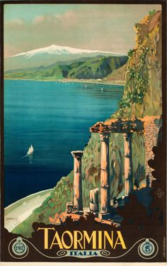 TAORIMA ITALY Travel Poster