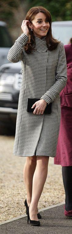 Kate Middleton wore Reiss 'Rubik' coat  http://whatkatewore.com/2015/12/10/the-duchess-dons-a-new-coat-for-addiction-on-addiction-visit/