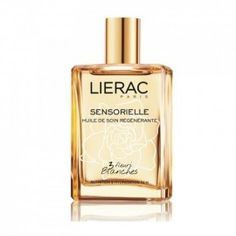 "Lierac Huile de Soin Régénérante - My favorite flowery scented body oil was recently turned into a spray-on bottle, making it twice as effective. The pesky squirt ""pump"" was driving people nuts. Beauty And The Best, Cosmetics & Perfume, Linens And Lace, Fashion Watches, White Flowers, Yves Saint Laurent, Perfume Bottles, Skin Care, My Favorite Things"