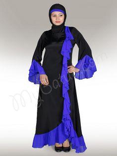 Shireen  Abaya!   Style No: Ay-152   Shopping Link  : http://www.mybatua.com/shireen-abaya   Available Sizes XS to 7XL (size chart: http://www.mybatua.com/size-chart/#ABAYA/JILBAB)