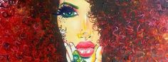 Afro-artist Ash the Painter Creating and Redefining Beauty on Canvas Afro Painting, Hand Painting Art, Black Women Art, Black Art, Afro Art, How To Draw Hair, Art Music, Female Art, Pop Art