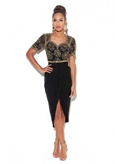 544501472ad Embellished Dress Made from a lightweight poly nbsp fabricShort sleeve midi  dressWrap Skirt Fabric 100