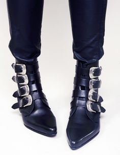 buckled beatle boots