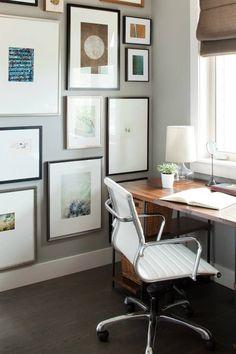 Floor to ceiling gallery wall | Kelly Deck Design