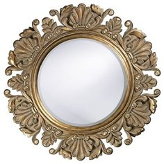 Nita Ornate Round Mirror - Traditional - Mirrors - by Classy Mirrors