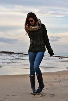 Sally Lee by the Sea Coastal Lifestyle Blog: Weekend Beach Style: Rain Boots for Fall
