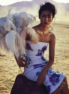 On with the Show: Liu Wen at the Circus by Will Davidson for Vogue Australia