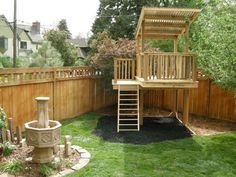 Attirant Simple Design Backyard Play Structure More
