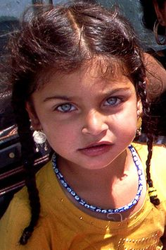 Beautiful gypsy child - her eyes are unforgettable.