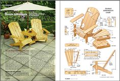 DIY Landscaping & Garden, Woodworking Plans & Projects - Double Adirondack Project Plan