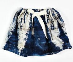 blue batik skirt