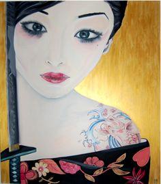 geisha con katana