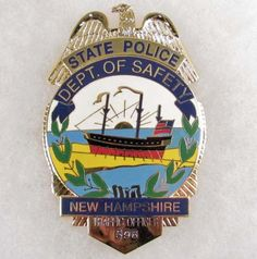 New Hampshire State Police Badge