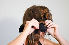 How to Curl Your Hair With Socks: 17 Steps - wikiHow