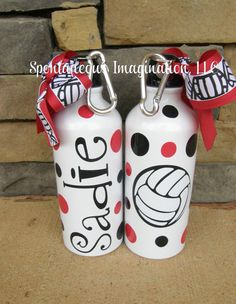 Personalized Girls Volleyball Team Sport Water Bottle Gift Ideas
