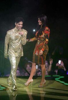 Prince outsparkled Kim Kardashian at a concert in February 2011. (Photo:Globe Photos, Inc.)
