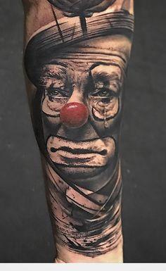 80 Tatuagens de Palhaço incríveis para você se inspirar - Fotos e Tatuagens Circus Tattoo, Clown Tattoo, Payasa Tattoo, Cool Tattoos, Tatoos, Skull Sleeve Tattoos, Back Tattoos For Guys, Tattoos Gallery, Tattoo Designs Men