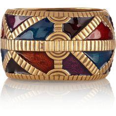 Oscar de la Renta Gold-plated enamel cuff (17.245 RUB) ❤ liked on Polyvore featuring jewelry, bracelets, accessories, bags, bracelets & bangles, gold, enamel bangle, cuff jewelry, gold plated jewelry and bracelets bangle