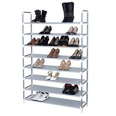 Songmics 8 Tiers Shoe Rack Shoe Storage Tower Organizer Space Saving Shoe Cabinet Grey ULSR08G Songmics-Shoe rack http://www.amazon.com/dp/B00V48ALGK/ref=cm_sw_r_pi_dp_J-H4vb1BRBXAB #bedroomfurniturebySONGMICS