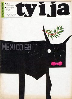 """""""Ty i Ja"""" magazine, 10.1968, cover by Henryk Tomaszewski"""