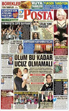#20160517 #TürkiyeHABER #TURKEY #TurkeyTodayNEWSpapers20160517 Tuesday MAY 17 2016 http://en.kiosko.net/tr/2016-05-17/ + http://www.trthaber.com/foto-galeri/gazete-mansetleri-17-mayis-2016/10459/sayfa-10.html <+> #POSTA20160517 http://en.kiosko.net/tr/2016-05-17/np/posta_gazetesi.html