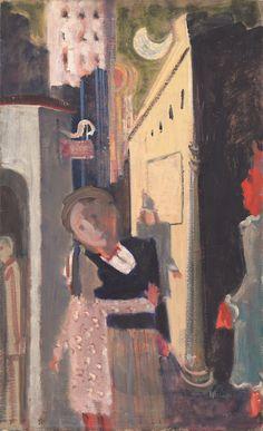 Mark Rothko, Street Scene, 1936/1937, oil on canvas, National Gallery of Art, Washington, Gift of The Mark Rothko Foundation, Inc. © 1998 by Kate Rothko Prizel and Christopher Rothko courtesy Museum of Fine Arts Houston