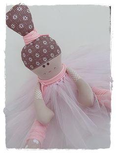lalka szmacianka w tutu-rękodzieło