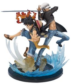 "Bandai Tamashii Nations Monkey D Luffy & Trafalgar Law 5th Anniversary Edition ""One Piece"" Action Figure http://amzn.to/2pZy2Zo"