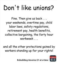 Unions made the middle class possible;  as the number of union members decrease, so goes the middle class.