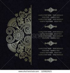 Elegant floral pattern on a dark seamless background. Stylish design. Can be used as a greeting card or wedding invitation - stock vector