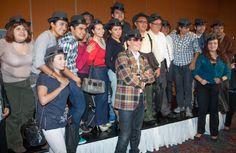 con periodistas presentando Acustico en Vivo Agosto 2012