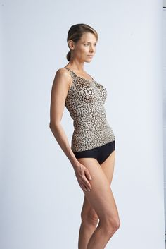 Cheetah classic cami pair with black shaping brief #RubyRibbon Call of the Wild http://www.rubyribbonmixer.com
