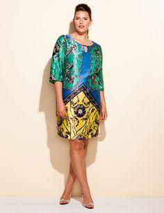 Scarf print dress - love this dress!
