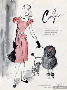 Carlye (Couture for Junior) 1946 Poodle