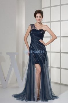 Wholesale 2015 Sexy Dresses - Buy Wanweier 2015 New Sexy One-Shoulder Belt Chiffon Evening Party Prom Dresses Spaghetti Floor Length Sweep Train Pleats Ruched Draped Designer, $89.01 | DHgate.com