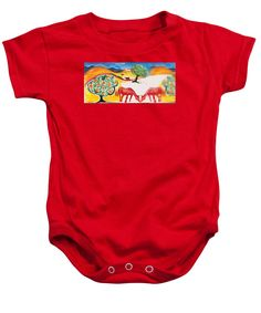 Red Horses and Apricot Trees Onesie for Sale by Colleen Proppe Valentine Day Gifts, Valentines, Apricot Tree, Red Art, My Images, Onesies, Paintings, Horses, Gift Ideas