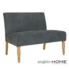 Shop for Handy Living Bradstreet Twillo Bluestone Loveseat. Get free delivery On EVERYTHING* Overstock - Your Online Furniture Store! Living Room Seating, New Living Room, Dining Room Chairs, Staging Furniture, Furniture Deals, Take A Seat, Love Seat, Blue Loveseat, Online Furniture Stores